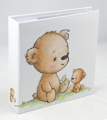 Teddybär Fotoalbum für 200 Fotos in 10x15 cm Baby Kinder Foto Album Memoalbum ()