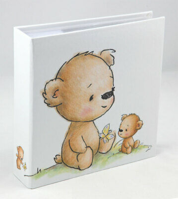 Teddybär Fotoalbum für 200 Fotos in 10x15 cm Baby Kinder Foto Album Memoalbum