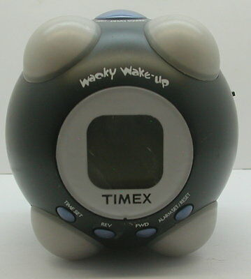 Timex T156B Wacky Wake-Up Shake N Wake Vibrating Talking Alarm WORKING R14905