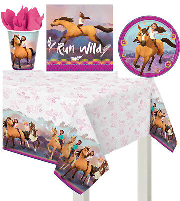 Spirit Riding Free Birthday Party Tableware Set Napkin,Plates,Cup & Table Cover