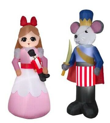 NUTCRACKER CLARA AND THE MOUSE KING Christmas Airblown Yard Inflatables  - The Nutcracker Mouse King