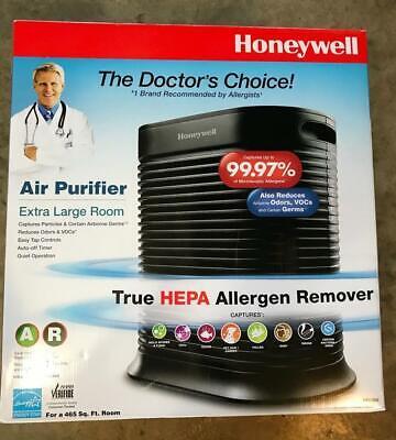 Honeywell True HEPA Air Purifier, 465 sq ft, Black