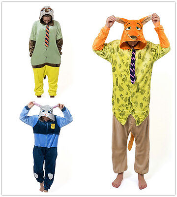 y Faultier Zootopia Onesiee Kigurumi Kostüm Schlafanzüge (Faultier, Tier Kostüm)