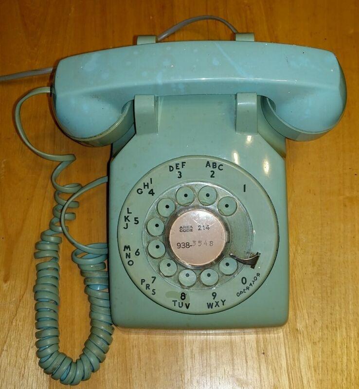 Vintage Rotary Telephone Aqua Teal