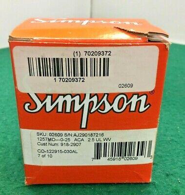 New Simpson Panel Meter 0-25 Ac Amperes