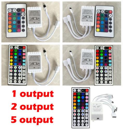 For 3528 5050 RGB LED Strip Light 24/44 Key IR Remote Controller Box AC/DC 12V