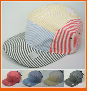 Flat-Brim-Old-School-5-Panel-Baseball-Army-Hat-Cap-Skate-Style-Visor-Hats-NWT