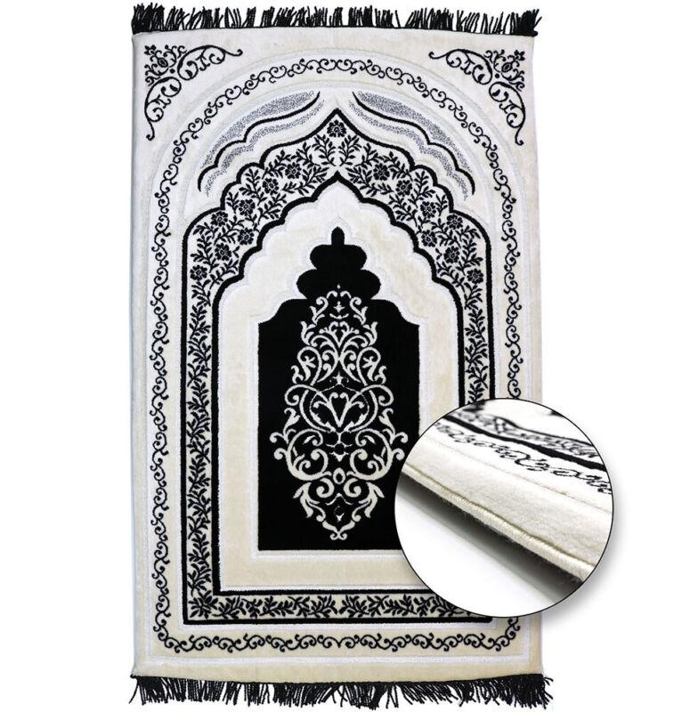 Modefa Turkish Islamic Luxury Orthopedic Padded Foam Cushion Prayer Rug - Black