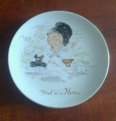 Vintage - Mad as a Hatter Hanging Plate-1948- Famous Image