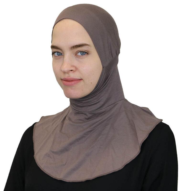 Modefa Islamic Turkish Ninja Easy Instant Muslim Hijab Underscarf Dark Mink