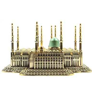 Turkish Islamic Table Decor Al-Masjid an-Nabawi Prophet's Mosque Replica Gold
