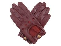 Dents Delta Men's Hairsheep English Tan Leather Classic Driving Gloves, Size M