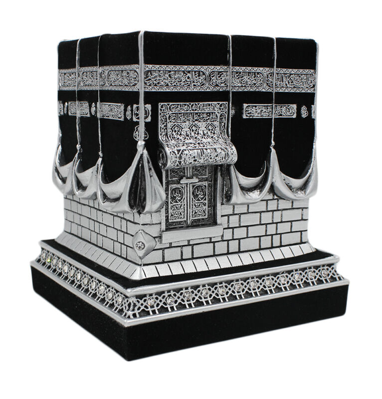 Islamic Table Decor Kaba Replica Muslim Gift Silver & Black