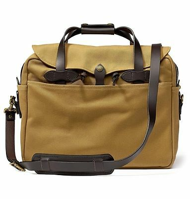 NEW! FILSON BRIEFCASE COMPUTER LAPTOP BAG LARGE TAN #70257