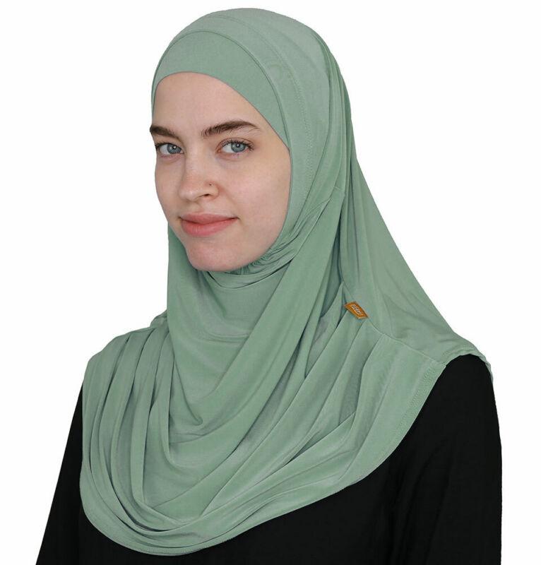 Turkish Islamic Firdevs Practical Amira Easy Hijab Mint Jade