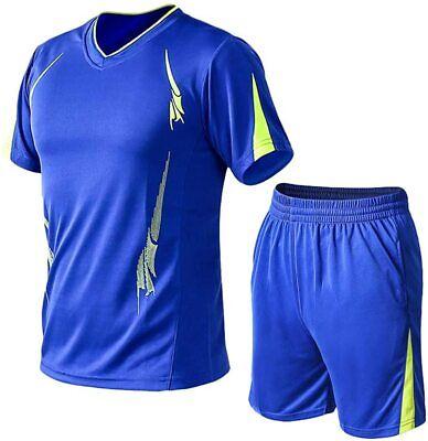 Lavnis Men's Casual Tracksuit Short Sleeve Running Jogging A