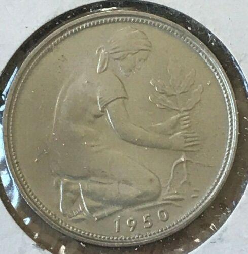1950 G Germany 50 Pfennig - Beautiful Uncirculated
