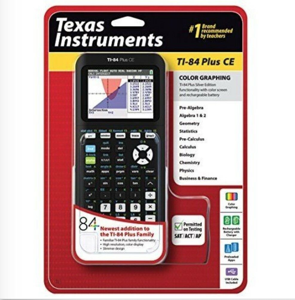 SEALED Texas Instruments TI-84 Plus Ce Graphing Calculator B