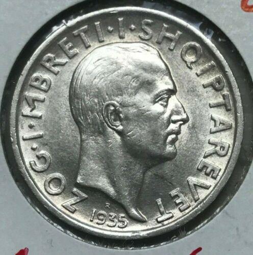 1935 Albania Franc - Beautiful Uncirculated