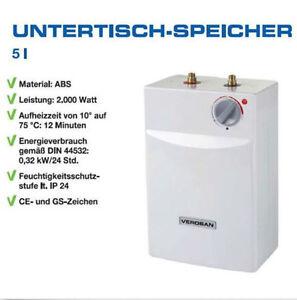 Warmwasserspeicher Untertischgerät  Boiler für Küche 5L