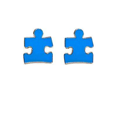 Blue Puzzle Piece Pin (2 Pack Autism Awareness Puzzle Piece Blue Lapel Hat Pins Raise Awareness)