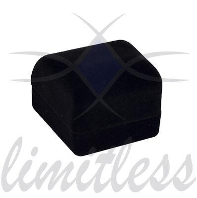 (Black Velvet Ring Box Fancy Ring Box Elegant Ring Box Simple Ring Box)