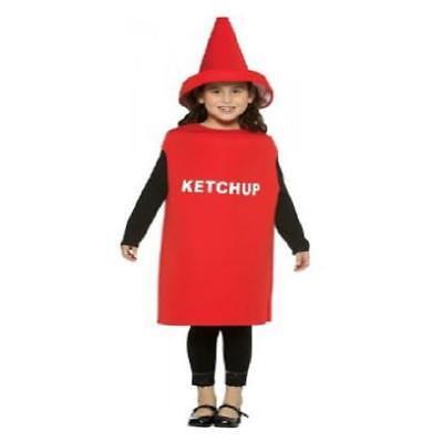 Rasta Imposta Lightweight Ketchup Children's Costume, 7-10, Red - Ketchup Costume Kids