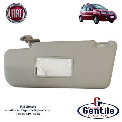 JenNiFer Built-In Flip Open Car Mirror Offside Gray Sun Visor For Fiat Panda 2003-2012 Right