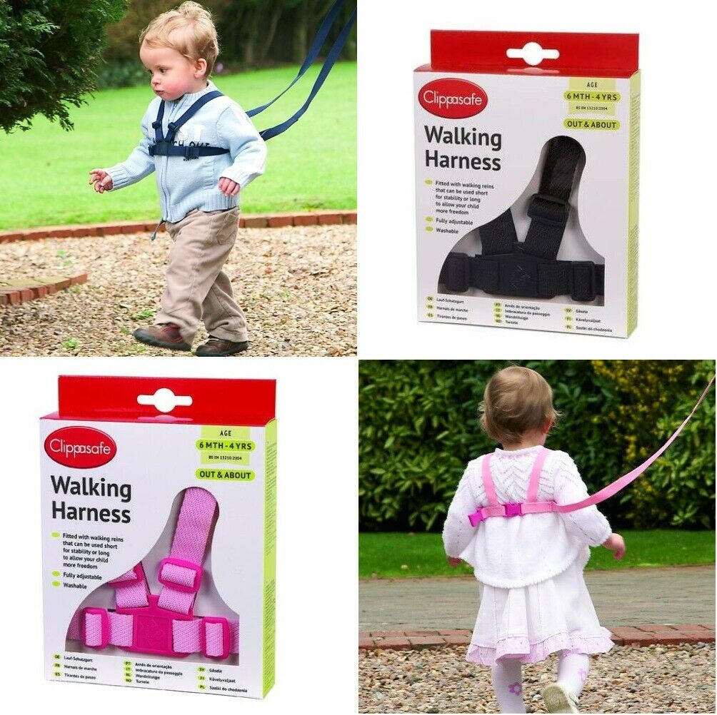 For Baby Age: 6 m+- Colour: Black Walking Harness /& Reins Toddler or Kids