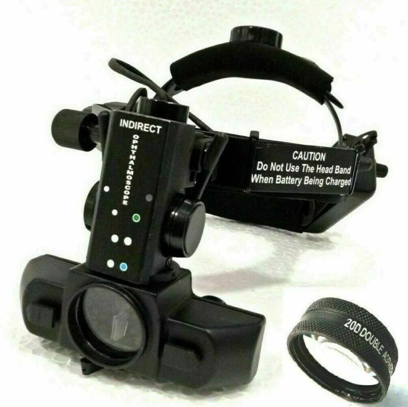 Wireless Rechargeable Binocular Indirect Ophthalmoscope with 20 D Lens