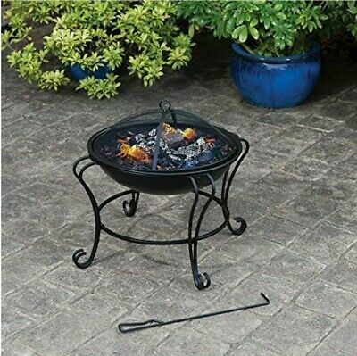 Boston FIRE PIT  Garden Log Burner Round Patio Heater ✅FREE DELIVERY✅