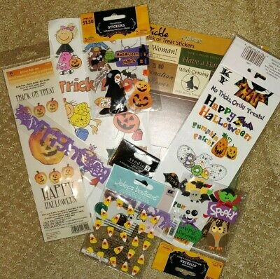 Halloween Scrapbook Embellishments (New Halloween scrapbook stickers border embellishments candy spider bat)
