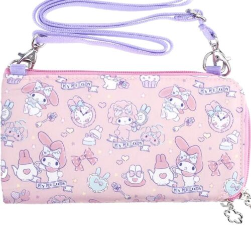 My Melody Wallet Passport Cover ID Card Holder Travel Organizer Bag Case Purse