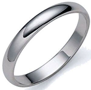 3 mm solid platinum half s wedding band ring 1