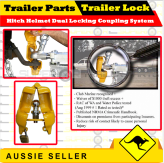 Boat Trailer Lock Helmet Hitch  Dual  Coupling Locking Mechanism Coomera Gold Coast North Preview