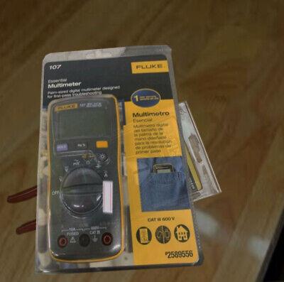 Flukes New 107 Esp Palm 600v 10a Measures Cat Multimeter Digital Full Box