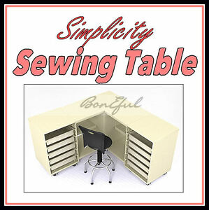 BonEful-TABLE-Machine-Serger-Quilt-Embroidery-Craft-Shelf-Fabric-SEWING-Organize