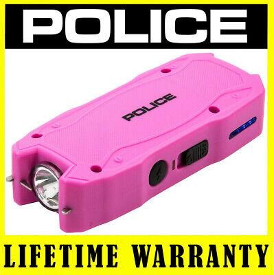 Police Stun Gun Mini Pink 1901 550 Bv Self Defense Rechargeable Led Flashlight