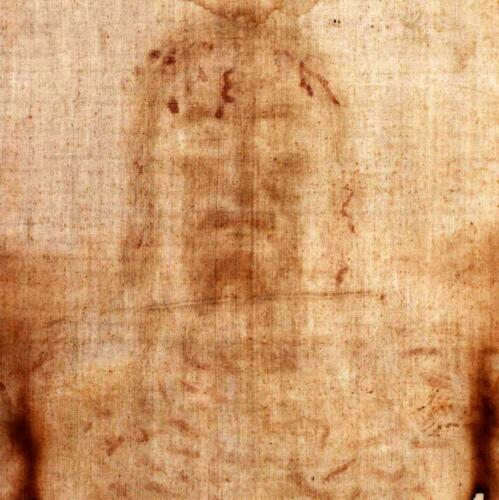 Shroud of Turin 1:1 Scale Polyester Fabric Front Half Replica Life-Size  EASTER!