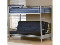 Metal Bunk Bed With Sofa/Half Double Bed Underneath