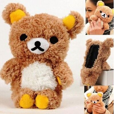 3D Cute Teddy Bear Cool Plush Toy Doll Case Cover For Samsung Apple cell Phones