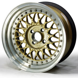 "15"" Factory Gold BBs RS Wheel for Maserati Biturbo 4x98 ..."