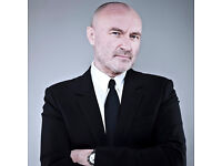 3 tickets for Phil Collins at Liverpool Arena 02/06/2017 in Block 5