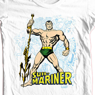 Sub-Mariner T-shirt Free Shipping vintage superhero comic book cotton white tee  - Comic Book Superhero