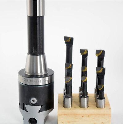 9pcs 12mm Carbide Boring Bars F1-12 2 Boring Head R8 M12 Bridgeport Milling