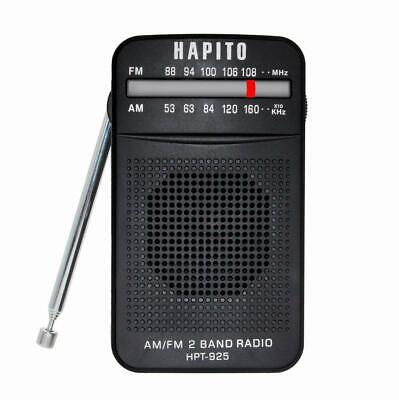 Portable Pocket Transistor Radio Battery Operated AM/FM Radio - Best Reception,