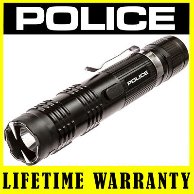 Police Stun Gun Metal M12 550 Bv Black Rechargeable Led Flashlight