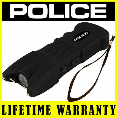 Police Stun Gun 917 550 Bv Led Flashlight Heavy Duty Rechargeable - Black