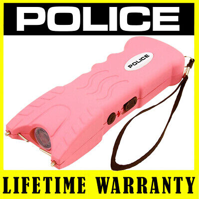 Police Stun Gun 917 Pink 650 Bv Heavy Duty Rechargeable Led Flashlight
