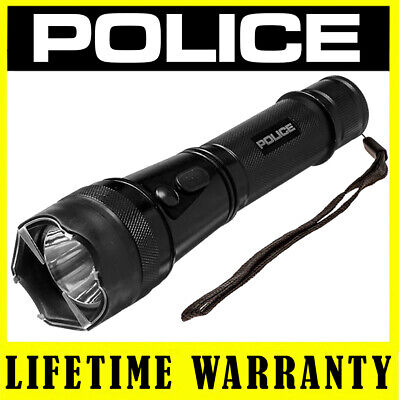 Police Stun Gun Metal 1901 550 Bv Heavy Duty Rechargeable Led Flashlight